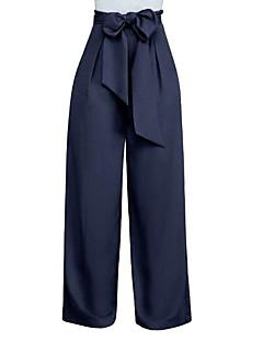 levne Dámské kalhoty-Dámské Větší velikosti Široké nohavice Kalhoty - Jednobarevné Fialová / Jdeme ven
