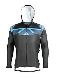 billige Sykkelklær-ILPALADINO Herre Langermet Sykkeljersey - Svart Mote Sykkel Topper, Ultraviolet Motstandsdyktig, Vinter, Elastan