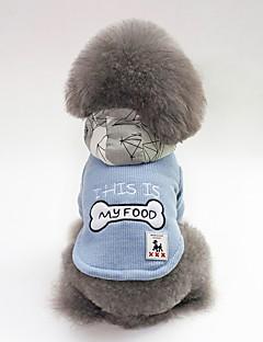 billiga Hundkläder-Hund Kappor Hundkläder Figur / Ben / Slogan Röd / Blå Plysh Kostym För husdjur Unisex Ledigt / vardag / Uppvärmning