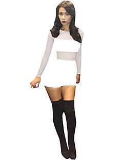 billige Jumpsuits og sparkebukser til damer-kvinneklubber - solid farget blyant