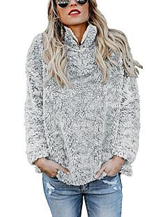 baratos Suéteres de Mulher-Mulheres Activo / Básico Pulôver - Sólido