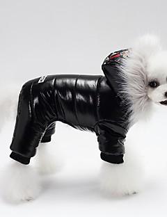 billiga Hundkläder-Hund / Katt Regnjacka Hundkläder Enfärgad / Djur / Citat och ordspråk Brun / Röd / Svart Fjäder / Ner / Vattentätt Material Kostym För husdjur Unisex Vattentät / Vindtät
