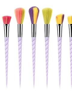 billige Sminkebørstesett-7pcs Makeup børster Profesjonell Rougebørste / Øyenskyggebørste / Leppebørste Nylon Fiber Full Dekning