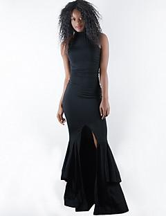 billige Kjoler til nyttårsaften-kvinners fest slim skjede kjole høy midje maxi mannskap nakke