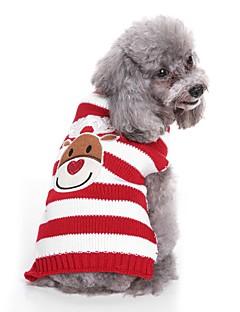 billiga Hundkläder-Hund Tröjor Hundkläder Crewels / Färgat garn / Figur Svart / Röd Terylen Kostym För husdjur Unisex Söt Stil / Ledigt / vardag