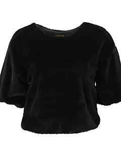 tanie Damskie bluzy z kapturem-Damskie Aktywny / Moda miejska Bluza dresowa - Solidne kolory, Z marszczeniami