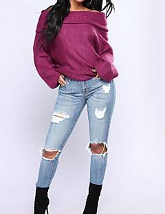tanie Swetry damskie-Damskie Aktywny Pulower Solidne kolory