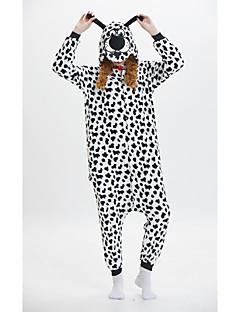 billige Kigurumi-Voksne Anime Hund Onesie-pysjamas polyesterfiber Svart / Hvit Cosplay Til Damer og Herrer Pysjamas med dyremotiv Tegnefilm Festival / høytid kostymer