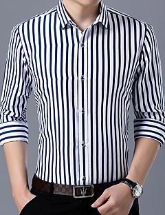 tanie Koszule-koszula plus size męska - kołnierzyk w prążki