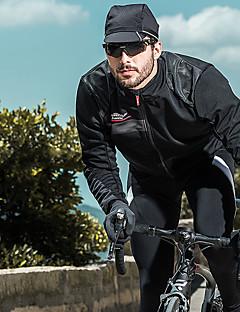 levne Zimní oblečení za 49,99 dolarů-SANTIC Pánské Cyklo bunda Jezdit na kole sako / Vrchní část oděvu Větruvzdorné, Prodyšné, Zahřívací Jednobarevné Zima Bílá / Černá Cyklistické oblečení