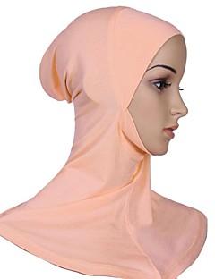 billige Bikinier og damemote-Dame Vintage / Grunnleggende Hijab - Kryss, Ensfarget