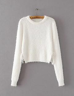 tanie Swetry damskie-damski sweter z długimi rękawami - jednolity kolor