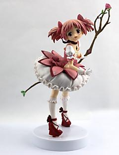 billige Anime cosplay-Anime Action Figurer Inspirert av Puella Magi Madoka Magica Madoka Kaname PVC 22 cm CM Modell Leker Dukke