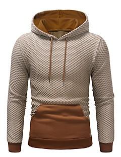 cheap Men's Hoodies & Sweatshirts-Men's Basic Long Sleeve Hoodie - Solid Colored Hooded Black XL / Fall / Winter