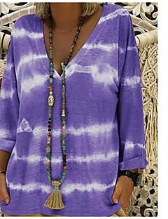 Χαμηλού Κόστους Γυναικείες Μπλούζες-Γυναικεία T-shirt Βασικό - Βαμβάκι Δετοβαμένο Λαιμόκοψη V Φαρδιά