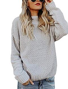 tanie Swetry damskie-damski bawełniany sweter z długim rękawem - jednolity kolor