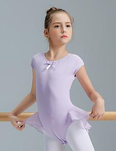 tanie Dziecięca odzież do tańca-Balet Topy Dla dziewczynek Szkolenie Spandeks Materiały łączone Krótki rękaw Wysoki Trykot opinający ciało / Śpiochy dla dorosłych