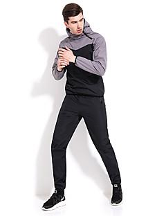 billiga Träning-, jogging- och yogakläder-Herr Skorstenskrage Lappverk Träningsoverall - Grön, Blå, Grå sporter Färgblock Byxa / Träningsoverall / Överdelar Löpning, Fitness, Träna Långärmad Sportkläder Andningsfunktion, Snabb tork Elastisk