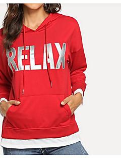 baratos Moletons com Capuz e Sem Capuz Femininos-hoodie solto de manga comprida para mulher - capuz de cor sólida