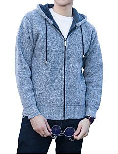 baratos Suéteres & Cardigans Masculinos-Homens Diário Sólido Manga Longa Padrão Carregam Cinzento Escuro / Vinho / Cinza Claro XL / XXL / XXXL