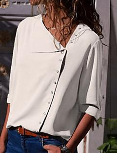 billige Bestselgere  2018-Skjorte Dame - Ensfarget Grunnleggende
