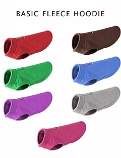 billiga Hundkläder-Hund / Katt Tröja Hundkläder Färgblock / Klassisk / Lolita Röd / Grön / Blå Polär Ull / Plysch Kostym För husdjur Herr / Dam Ledigt / vardag / Håller värmen / Nyår