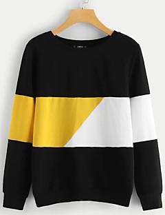 tanie Miesten hupparit ja collegepuserot-męska bawełniana bluza z długimi rękawami - kolor bloku wokół szyi