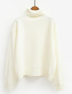 tanie Swetry damskie-luźny sweter damski z długim rękawem - jednolity kolor