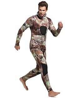 Χαμηλού Κόστους Σέρφινγκ, καταδύσεις και ψαροντούφεκο-SBART Ανδρικά Πλήρης στολή κατάδυσης 3mm Σετ Ρούχων Ανατομικός Σχεδιασμός Μακρυμάνικο 2 τεμάχια καμουφλάζ Φθινόπωρο / Χειμώνας / Μικροελαστικό