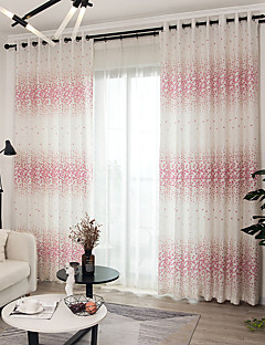 billige Gardiner-gardiner gardiner Barnerom Blomstret Polyesterblanding Trykket