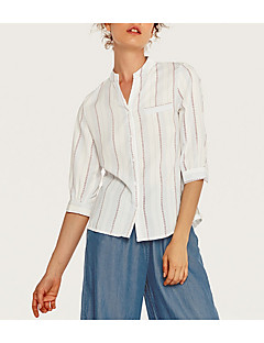 billige Skjorte-Dame - Stribet Gade Skjorte