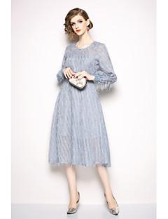 billige Kjoler til spesielle anledninger-A-linje Besmykket Ankellang Jersey Kjole med Drapert av