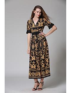 billige Kjoler til spesielle anledninger-A-linje V-splitt Ankellang Jersey Kjole med Belte / bånd av