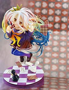billige Anime cosplay-Anime Action Figurer Inspirert av Intet Spill Intet Liv Shiro PVC 19 cm CM Modell Leker Dukke