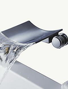 billige Foss-Badekarskran - Moderne Krom Vægmonteret Keramisk Ventil Bath Shower Mixer Taps / To Håndtak tre hull