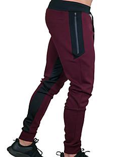 お買い得  スウェットパンツ-男性用 コットン スウェットパンツ パンツ - ソリッド ブラック