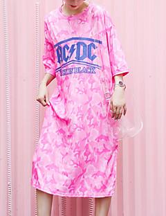 baratos Vestidos-Mulheres Moda de Rua Bainha Vestido Geométrica Médio