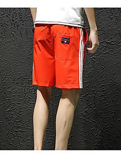 billige Herrebukser og -shorts-menns asiatiske størrelse shortsbukser - fargeblokk hvit