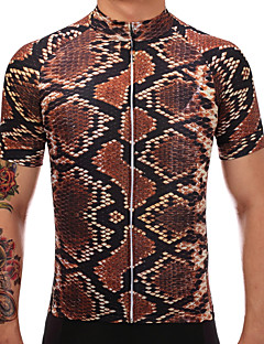7db540e6a TELEYI Men s Short Sleeve Cycling Jersey - Brown Bike Jersey Quick Dry  Sports Polyester Mountain Bike MTB Road Bike Cycling Clothing Apparel    Stretchy ...