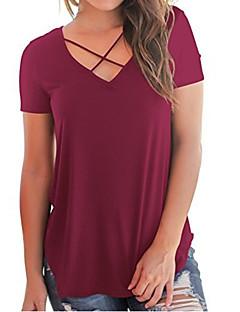 povoljno Ženske majice i kompleti-Majica s rukavima Žene Dnevno Jednobojni