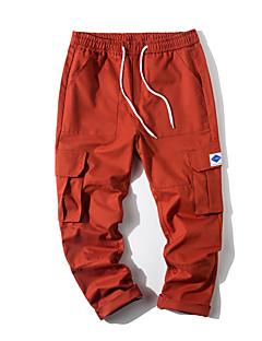 billige Herrebukser og -shorts-menns pluss størrelse chinos bukser - solid farget army green