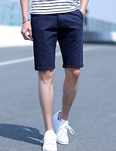 billige Herrebukser og -shorts-menns asiatiske størrelse shortsbukser - fargeblokk oransje