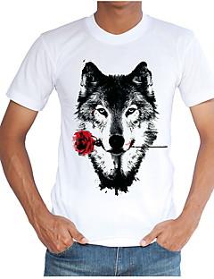 cheap Men's Tees & Tank Tops-Men's Slim T-shirt - Animal Round Neck / Short Sleeve