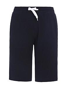 Pantalones cortos delgados de talla asiática para hombres - color sólido  negro 26d9102d6e3