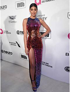 cheap Holiday Party Dresses-Danielle Herrington Sheath   Column Jewel Neck  Floor Length Sequined Formal a2349c7d9