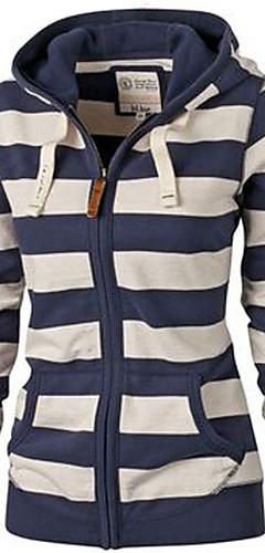 ieftine -Pentru femei De Bază Pantaloni - Dungi Albastru & Alb Bleumarin / Toamnă