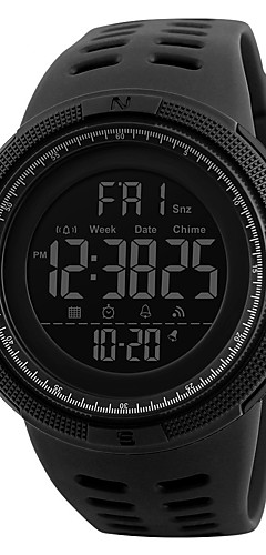 cheap -Men's Sport Watch Military Watch Wrist Watch Japanese Digital 50 m Water Resistant / Water Proof Alarm Calendar / date / day PU Band Digital Fashion Black - Blue Brown / Gold Gold / Red Two Years