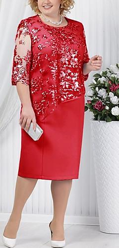 זול -מידי תחרה שמלה טישרט בגדי ריקוד נשים