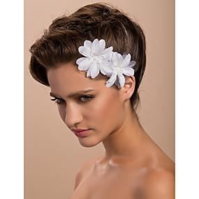 baratos Tiaras-Cetim Fascinadores / Flores / Decoração de Cabelo com Floral 1pç Casamento / Ocasião Especial / Casual Capacete