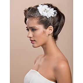 9090ab389a8 Svatební kloboučky   Doplňky do vlasů   Birdcage Veils s Květiny 1ks  Zvláštní příležitosti Přílba